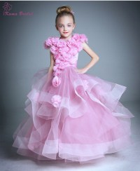 Pretty Girls Pageant Dress 2016 Spring Floral puffy Girls ...