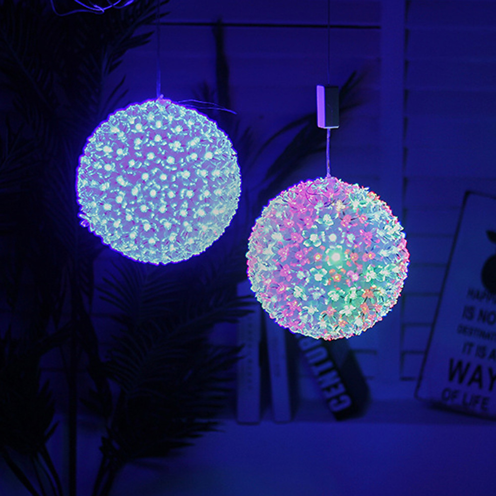 Solar Weihnachtsbeleuchtung Dia 13cm 100 Led Cherry Blossom Ball Lamp Ac 220v Holiday Christmas Wedding Party String Lights Us Plug