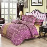 purple silver comforter sets