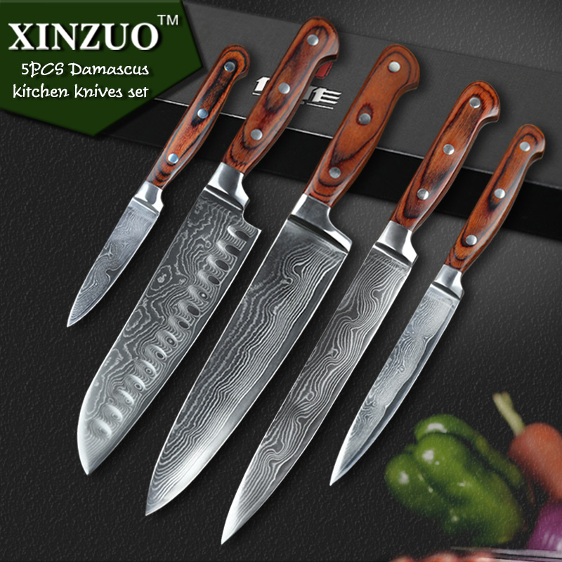 high quality pcs kitchen knife vg damascus stainless steel kitchen matelic image quality kitchen knives