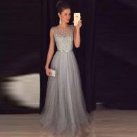 Prom Dresses Grey Long - Eligent Prom Dresses