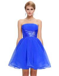 Simple Short Prom Dresses Blue_Prom Dresses_dressesss