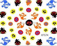 3D Halloween Spirit Sticker Decal XF574 Holiday Nail Art ...