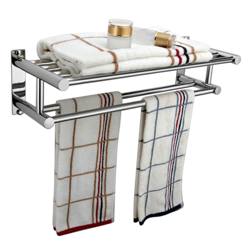 Stainless Steel Double Wall Mounted Bathroom Towel Rail