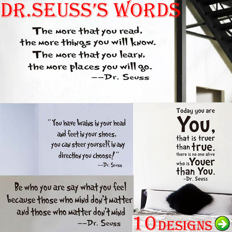 dr seuss inspirational quote wall stickers office living room hope inspirational wall stickers quotes art decals