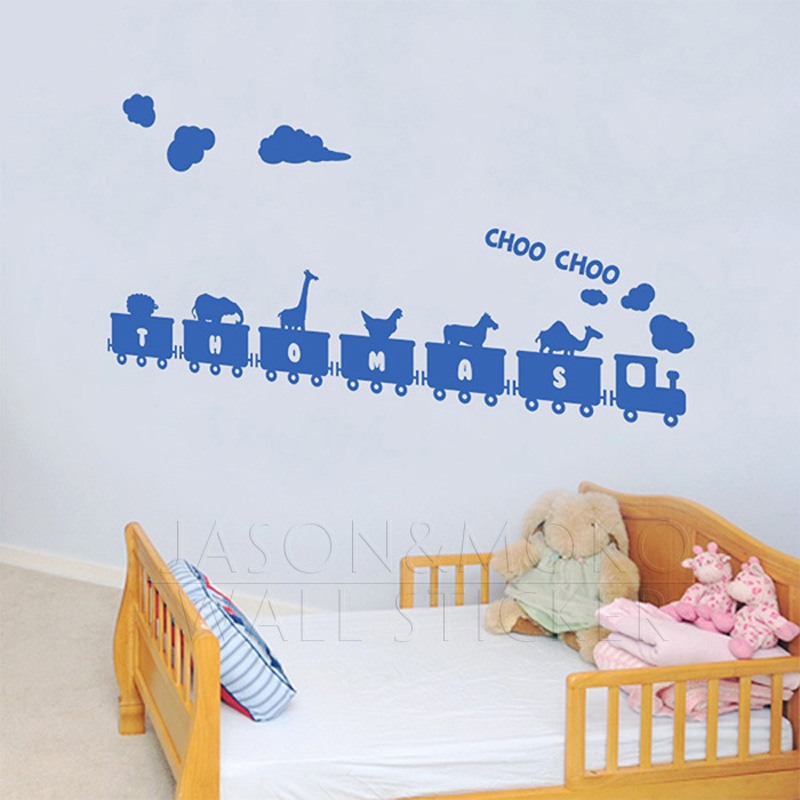 choo train animals personalized customized vinyl wall sticker custom wall stickers wall art quotes designs gemma duffy