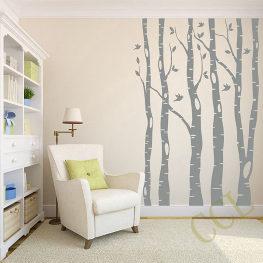 large tree wall stickers home decor large tree birds vinyl wall wall decor decal sticker removable vinyl photo frames wstb tc