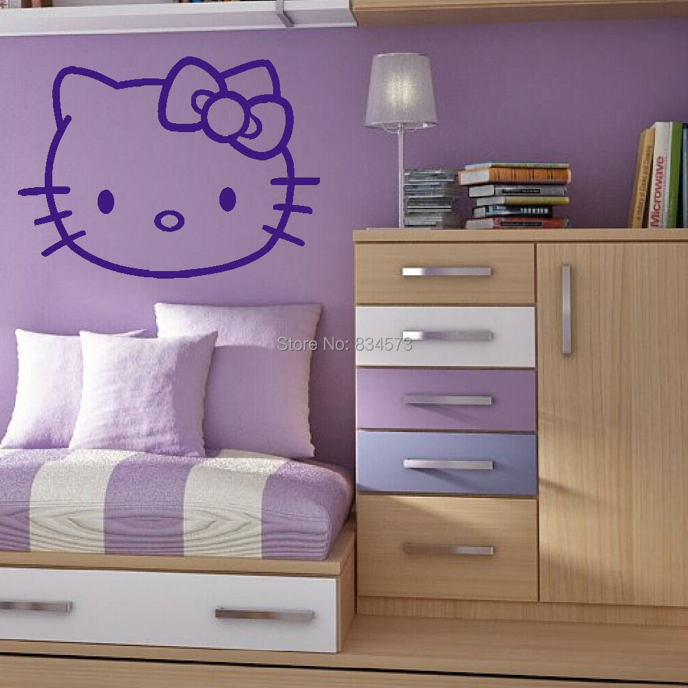 kitty childrens kids bedroom wall art sticker wall decal diy newknowledgebase blogs bedroom wall decals kids