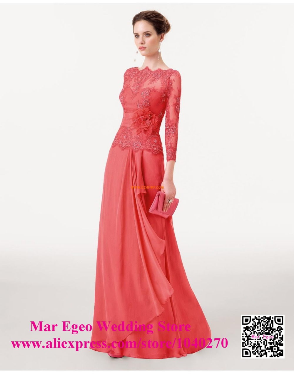 coral dresses for wedding Coral Colored Knee Length Bridesmaid Dresses A Line Short Wedding Party Gowns in Bridesmaid Dresses from
