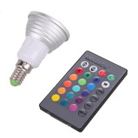 DJ controller disco light Remote Control LED Light E14 3W
