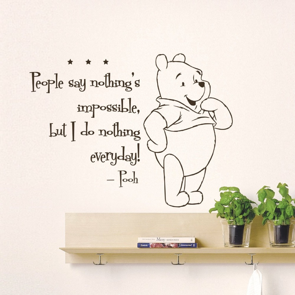 winnie home decoration baby quote wall decal nursery wall stickers winnie pooh wall decals nursery classic winnie ponydecal