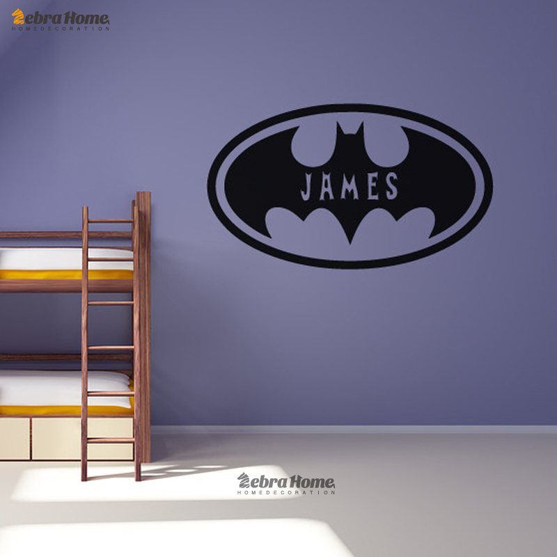 batman oval personalised customized wall stickers home decor bat custom wall stickers wall art quotes designs gemma duffy