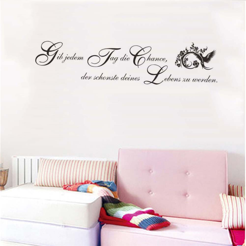 german inspirational quotes wall stickers girls bedroom decoration teen bedroom wall decals quotes quotesgram