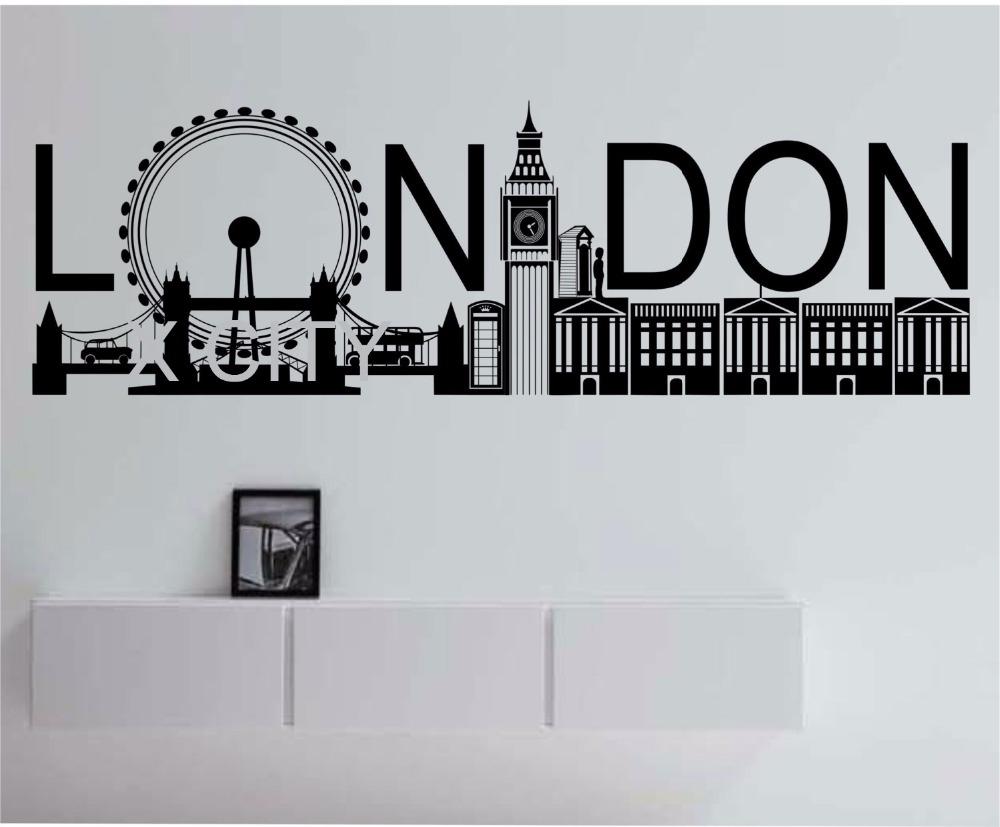 london skyline pop large vinyl wall decal sticker art decor home london skyline wall sticker