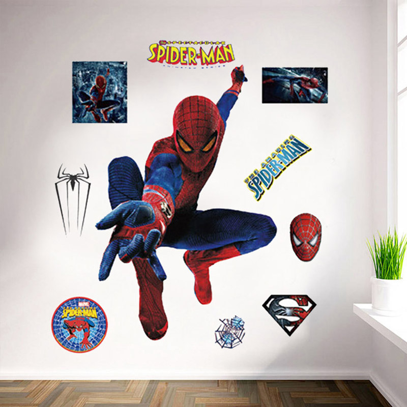 large spiderman wall stickers home decoration wall art removable price home spiderman large wall stickers