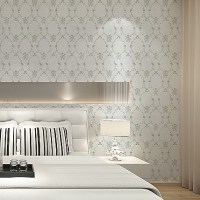 Modern Floral Plaid Trellis Nature Wallpaper Cream White ...
