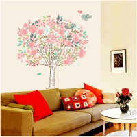 Vinyl Flowers Floral Mural Wall Sticker Bedroom Livingroom ...