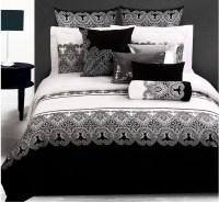Luxury 4pc/6pcs bedding set king size black and white ...