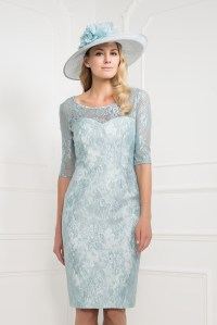 Lace Knee Length Mint Green Mother of the Bride Dresses ...