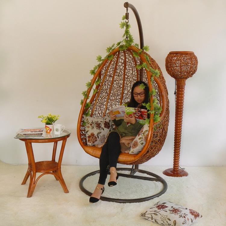 Rattan swing hanging chair indoor rattan bird nest hanging