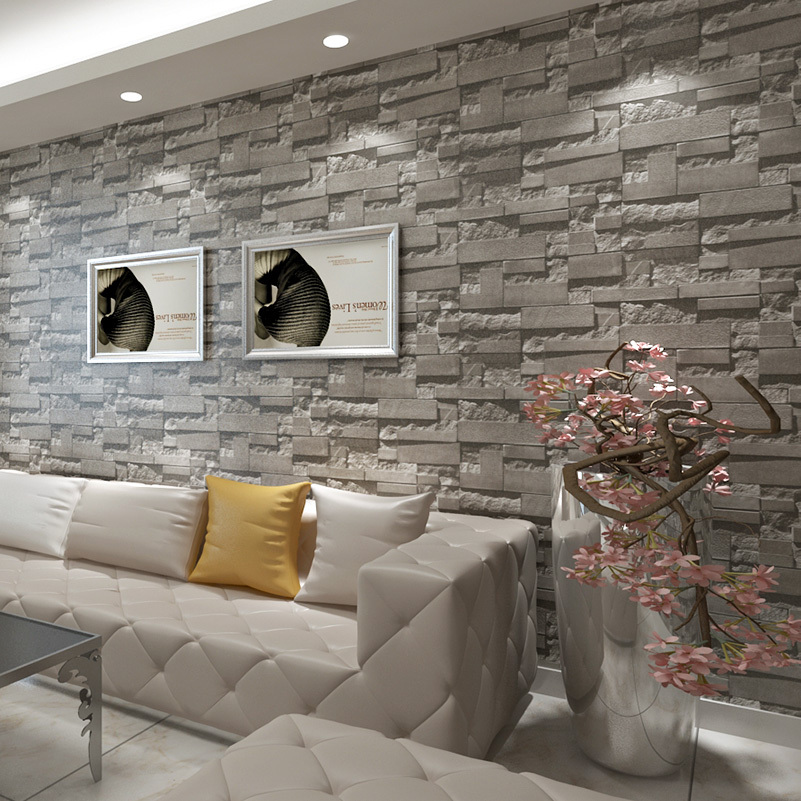 3d Wallpaper Or Wall Panel Or Wall Panels Stacked Stone Aliexpress Com Acheter Briques Empil 233 Es Pierre 3d Papier
