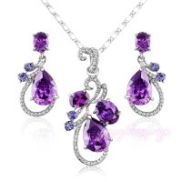 Aliexpress.com : Buy Mytys Purple Crystal Necklace and ...