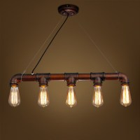 Retro Steampunk Water pipe iron Pendant Lamp E27 Rustic ...