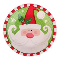 20pcs Christmas Paper Plate Dishes Cake Dish Santa Claus ...