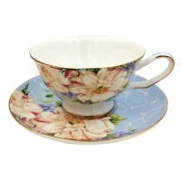 Jsaron Porcelain Vintage Tea Coffee Cup with Spoon and ...