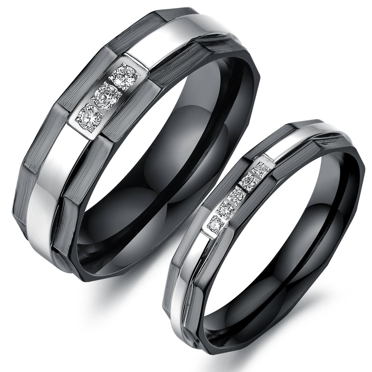 black engagement rings matching black wedding bands Black Diamond Engagement ring Obviously everything I ever wanted http shineonyourdiamond