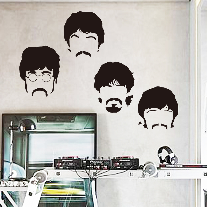 art design cheap vinyl home decoration beatles wall sticker cartoon beatles wall stickers perfect place