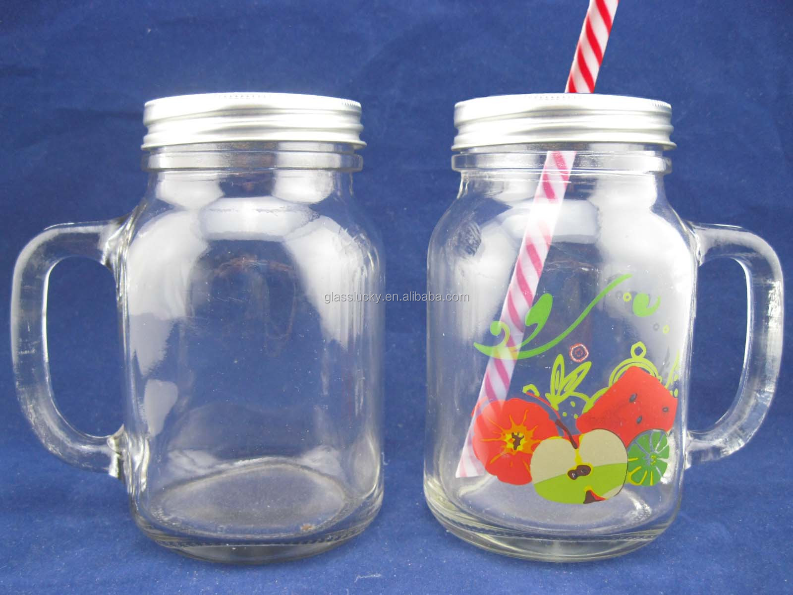 Jars On Sale Wholesale 16oz Glass Mason Jars With Straw Lid Popular In
