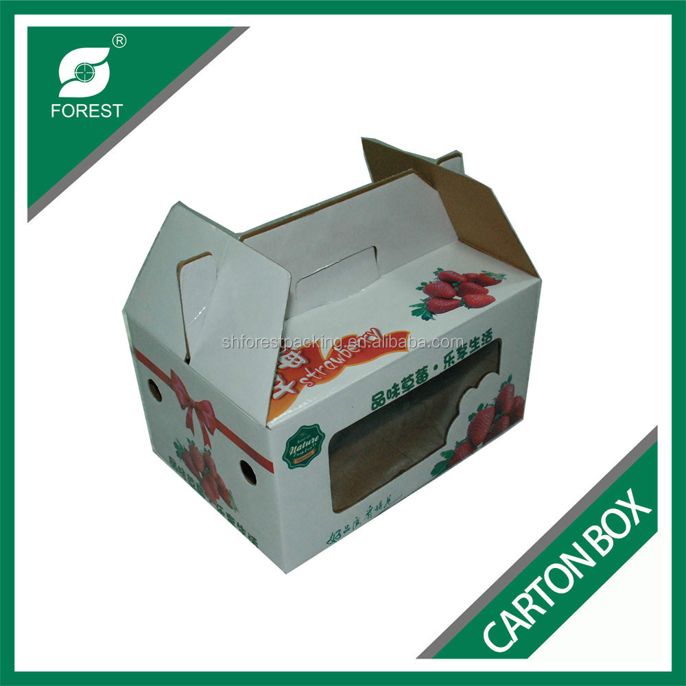 Glossy Laminated Corrugated Fruit Carton Box Custom Paper