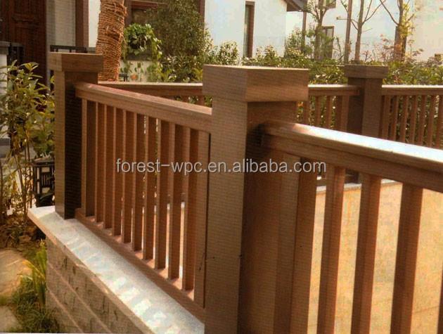 Wholesale wooden balcony railings balcony rail design new