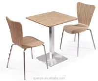 Cheap Fast Food Table And Chair Set Wooden Dining Room ...