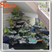 Indoor artificial decorative waterfall fountain, View ...