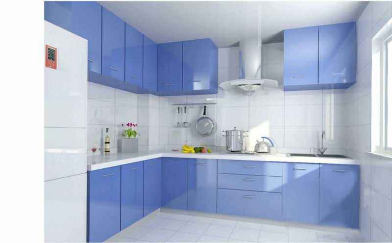Modern kitchen cabinet european style colored glass
