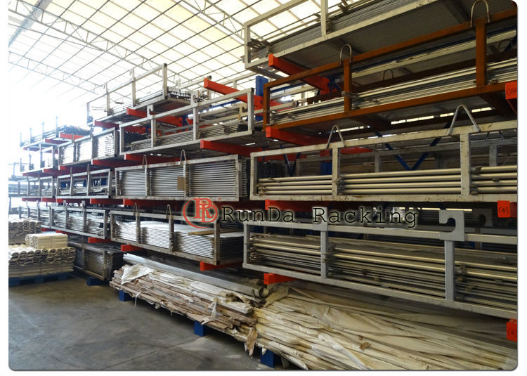 Feature And Material Tire Display Warehouse Cantilever