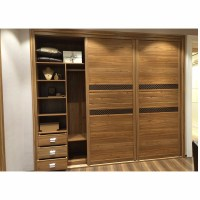 3 Sliding Door Wooden Bedroom Almirah Design