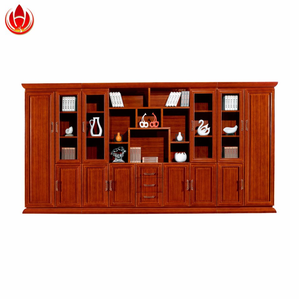 Wooden Furniture Cheap Wooden Bookcases With Glass Door