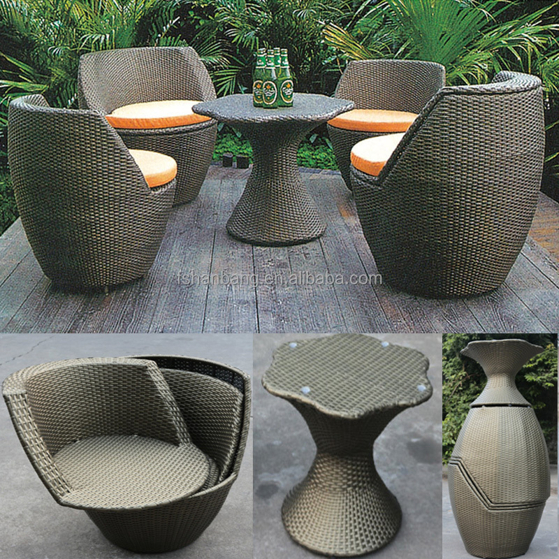 Factory Outlet Outdoor Rattan Resin Wicker Patio Garden Furniture 3 5 Pieces Table Chairs Set - Factory Clearance Garden Furniture
