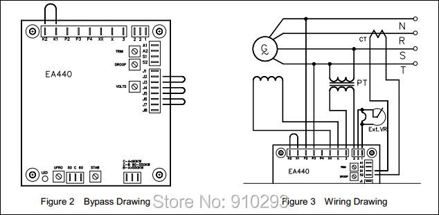 generator automatic voltage regulator circuit diagram