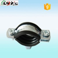 Galvanized Pipe Clamp With Rubber - Buy Pipe Clamp With ...