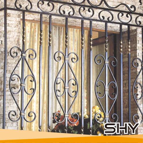 Wrought iron balcony window ornamental iron window grills