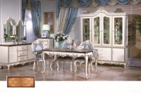 French Style Dining Room Furniture Set,Solid Wood Gold ...