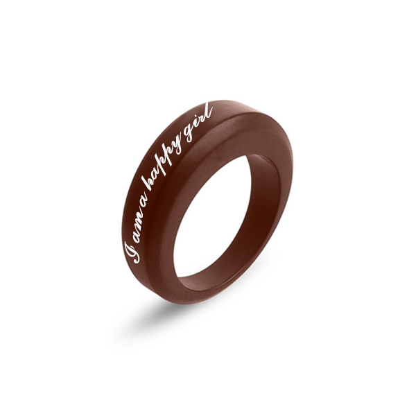 Fashion Custom Mens Silicone Wedding Band