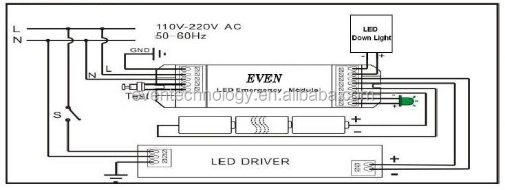emergency led driver wiring diagram