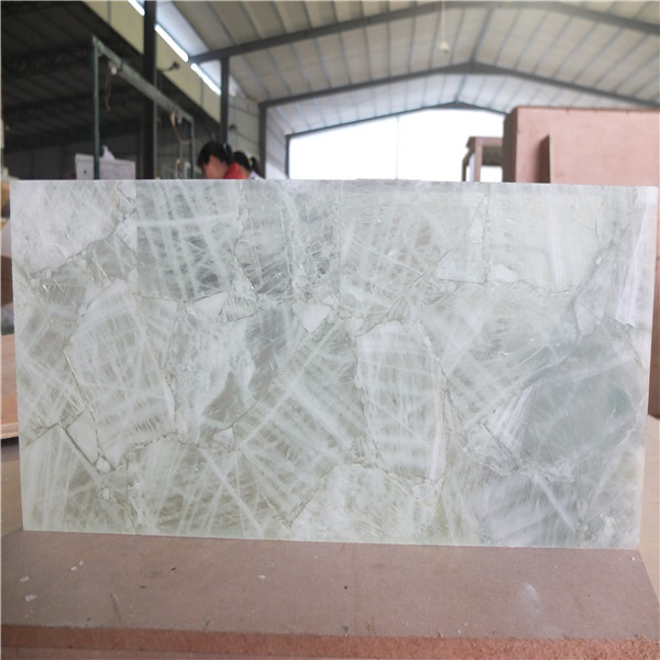 Manufacturer Bush Factory Natural Quartz Crystal Stone Backlit Tile Slab For