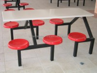 Frp Six-seater Dining Table & Chair,Fiberglass Chair ...