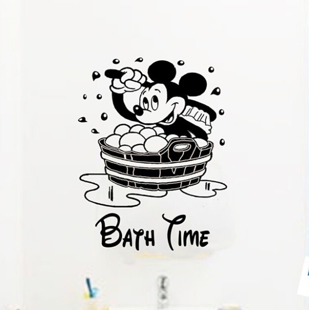 mickey mouse children bath time vinyl sticker wall stickers home decor mickey friends mickey mouse clubhouse capers wall stickers